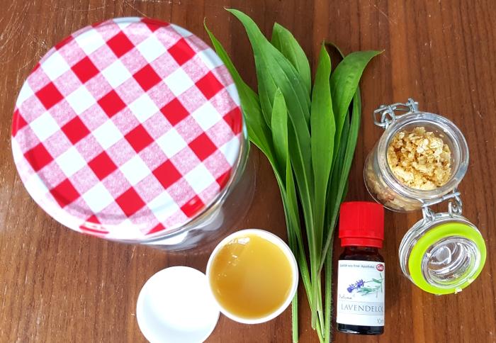 Zutaten für die Spitzwegerich-Salbe