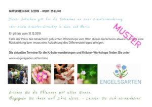 Gtuschein Workshop Kräuterwanderung